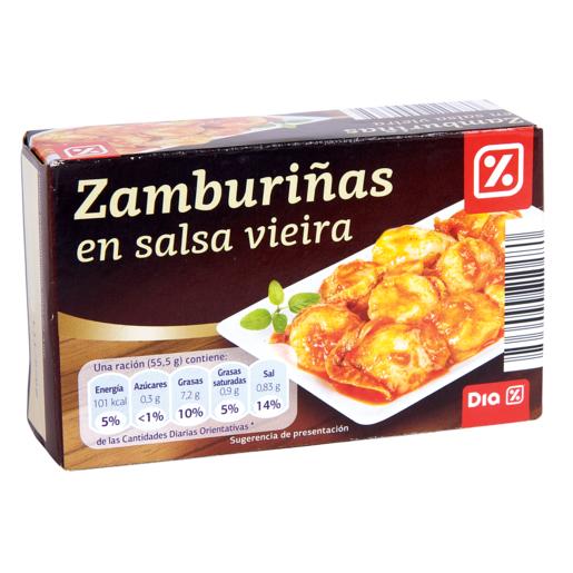 DIA zamburiñas en salsa vieira lata 65 grs