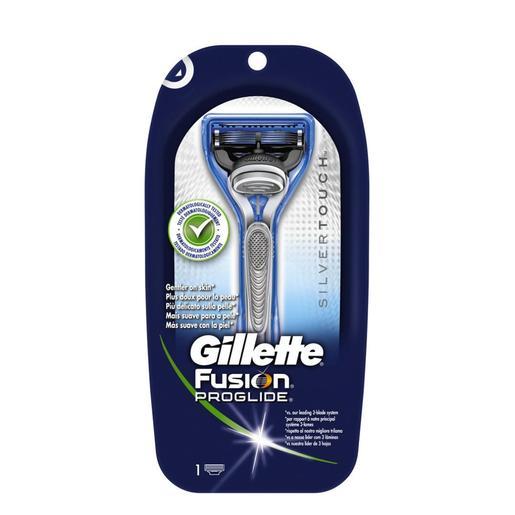 GILLETTE Fusion proglide silvertouch maquinilla de afeitar blíster 1 ud