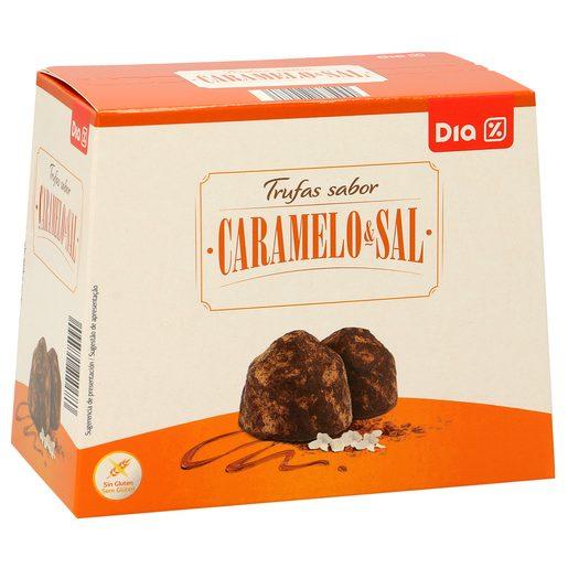 DIA DELICIOUS trufas con caramelo y sal caja 250 gr