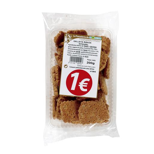 ASINEZ galleta rizada integral paquete 200 gr