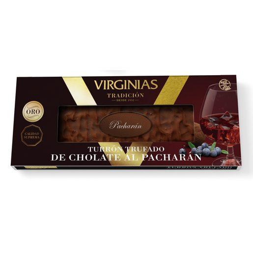 VIRGINIAS turrón trufado de chocolate al pacharán estuche 200 gr