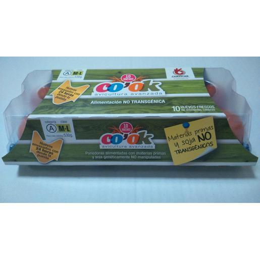 CO´OK huevos frescos categoría A clase M/L no transgénicos estuche 10 uds