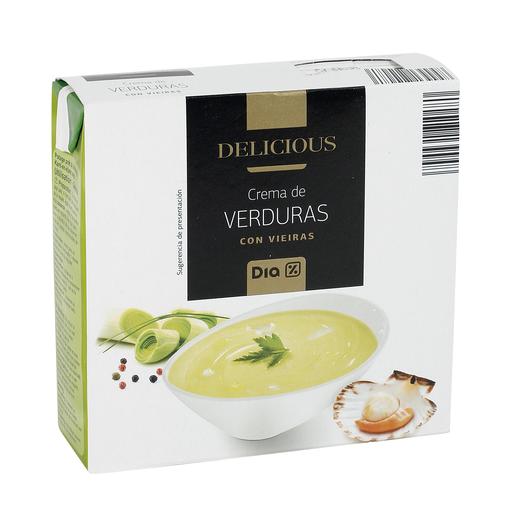 DIA DELICIOUS crema de verduras con vieiras envase 600 ml