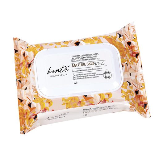 BONTE toallitas desmaquillantes para pieles maduras envase 25 uds