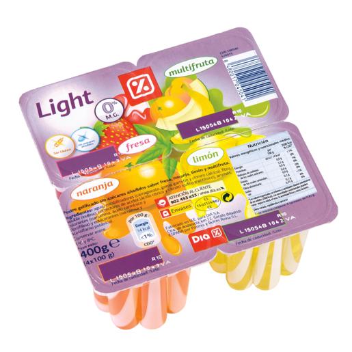 DIA gelatina light panaché pack 4 unidades 100 gr