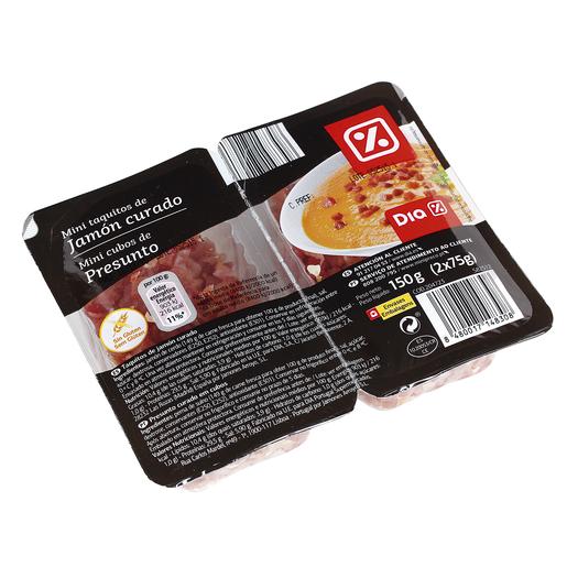 DIA mini taquitos de jamón curado  envase 2 x 75 gr