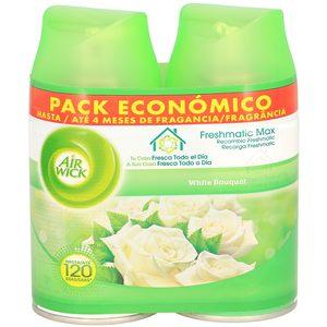 AIRWICK ambientador freshmatic flores blancas recambio 2 uds