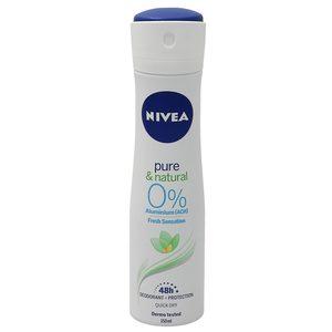 NIVEA desodorante pure & natural spray 150 ml
