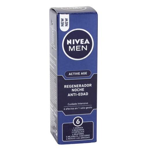NIVEA Men active age crema de noche regeneradora antiedad caja 50 ml