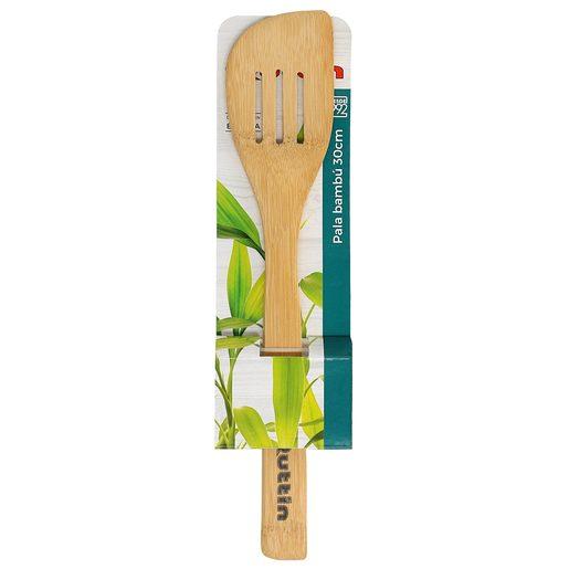QUTIN pala curva de madera de bambú 30 cm