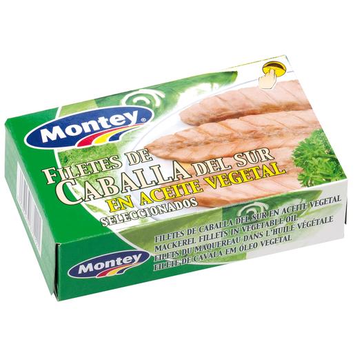 MONTEY filetes de caballa del sur en aceite vegetal lata 82 gr