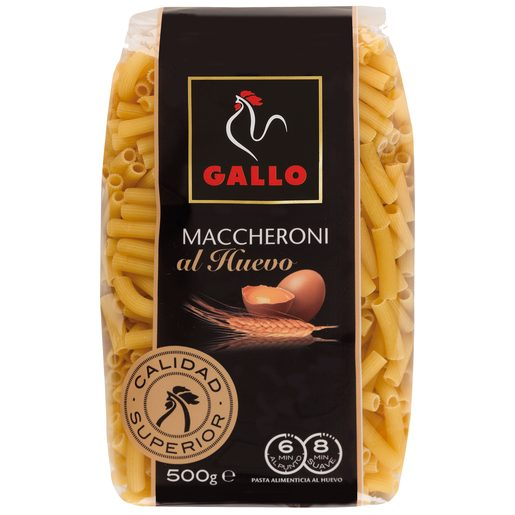 GALLO maccheroni al huevo paquete 500 gr