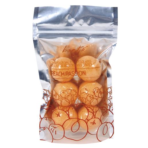 BONTE bombas de sal eferversentes relajante melocotón envase 6 uds