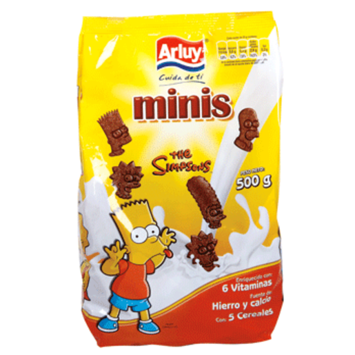 ARLUY galletas the simpsons mini paquete 500 gr