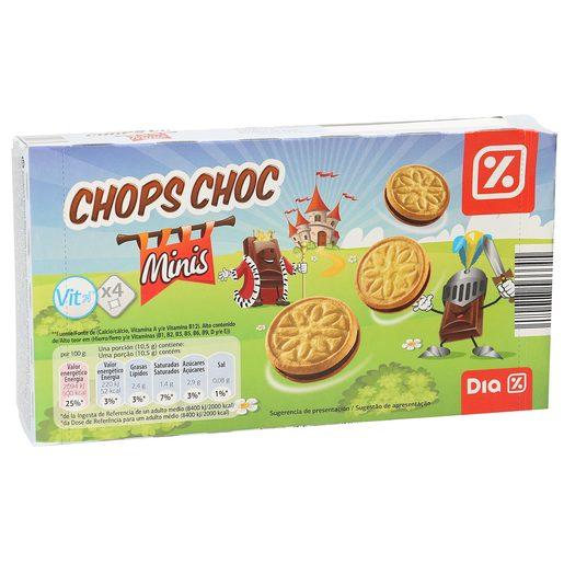DIA galleta mini sandwich rellena de chocolate caja 168 grs