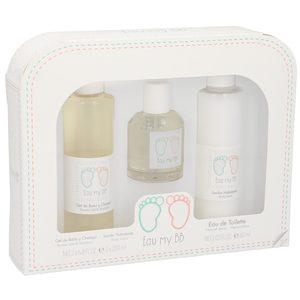 EAU MY BB pack gel de baño y champú 200 ml + locion hidratante 200 ml + colonia spray 60ml