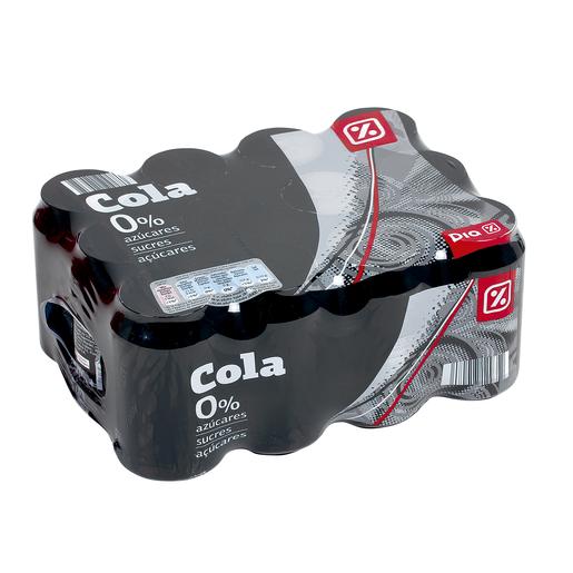 DIA refresco de cola 0% pack 12 latas 33 cl