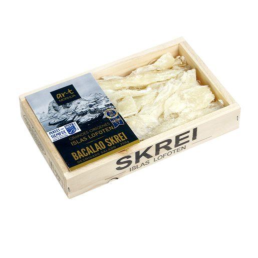 ART MORHUA bacalao desmigado salado skrei bandeja 250 gr