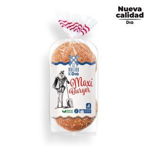 EL MOLINO DE DIA pan de hamburguesa maxi 4 unidades bolsa 300 gr