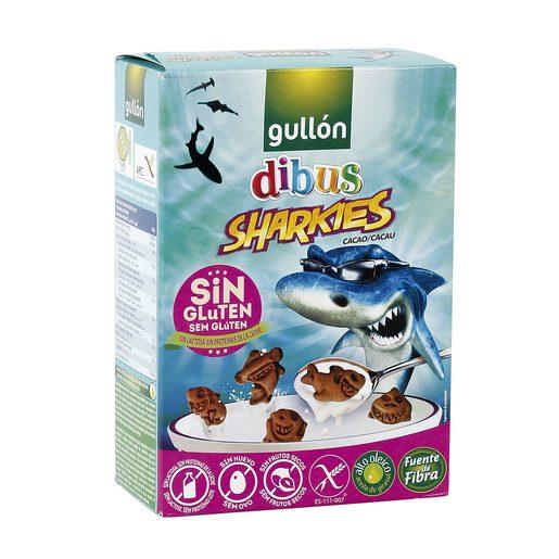 GULLON galletas dibus sharkies cacao SIN GLUTEN caja 250 gr