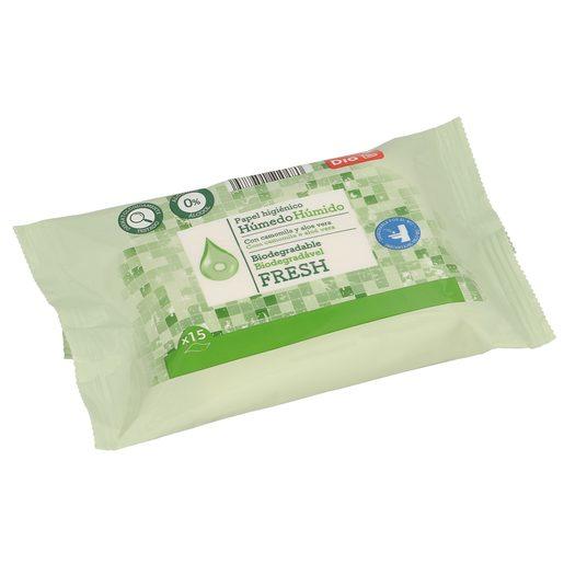 DIA papel higiénico húmedo fresh envase 15 uds