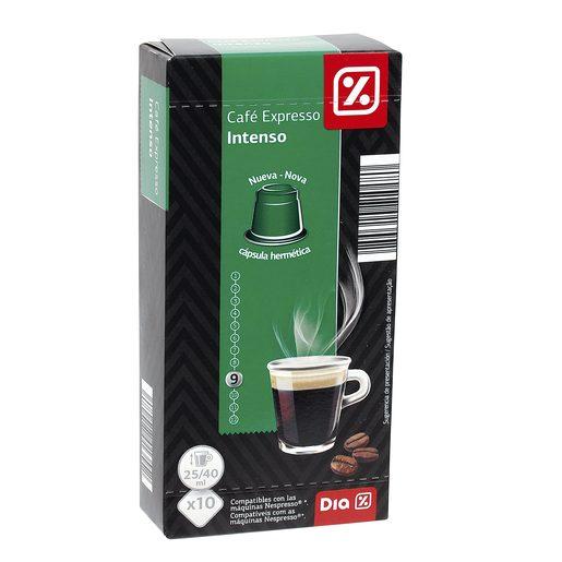 DIA café expresso intenso 10 cápsulas caja 53 gr