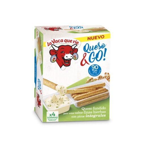LA VACA QUE RIE queso fundido go! finas hierbas con palitos integrales caja 4 uds