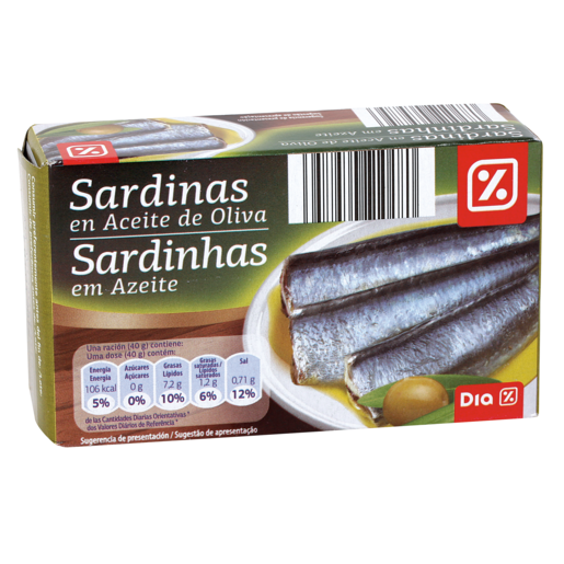DIA sardinas en aceite de oliva lata 80 gr