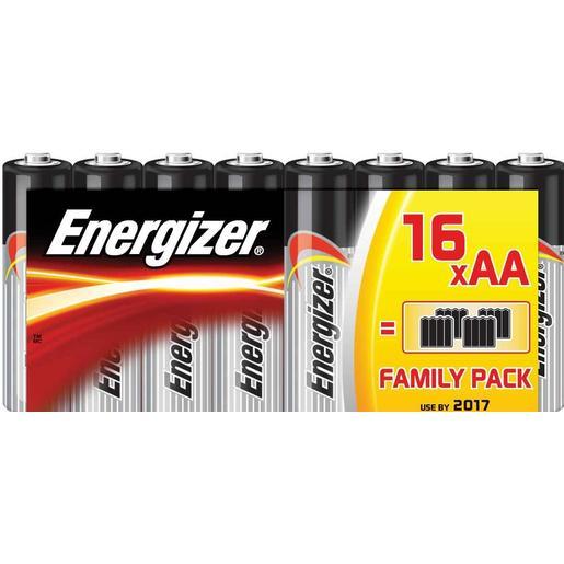 ENERGIZER pila alcalina AA LR6 blíster 16 uds
