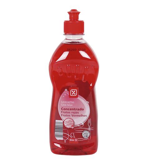DIA lavavajillas mano concentrado frutos rojos botella 500 ml