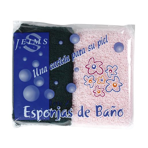 DARLI esponja de baño felpa bolsa 2 uds