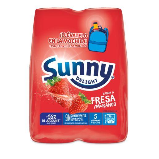 SUNNY Delight sabor fresa pack 4 unidades 200 ml