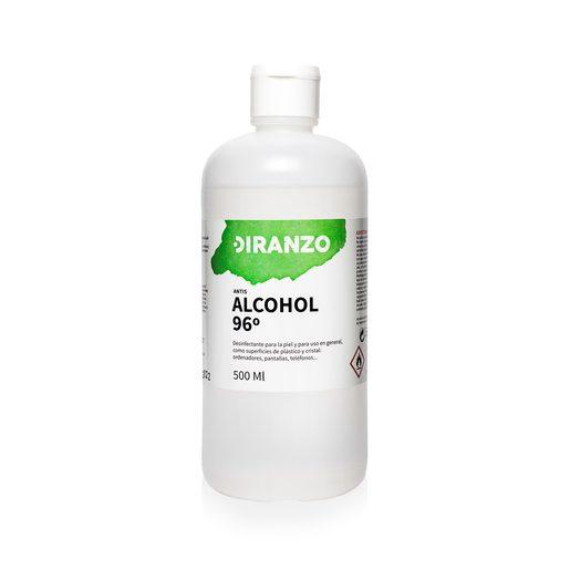 DIRANZO alcohol sanitario vol 96 º bote 500 ml