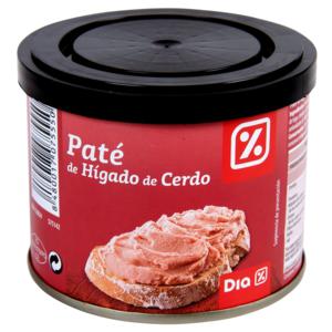DIA paté de hígado de cerdo tarro 200 gr