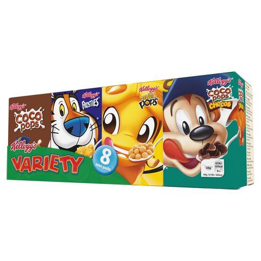 KELLOGGS cereales infantiles variety pack 8 cajas 25 gr