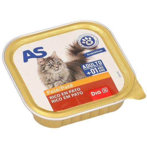 AS paté para gatos con pato tarro 100 gr