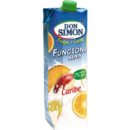 DON SIMON Funciona bebida de frutas con leche caribe envase 1 lt