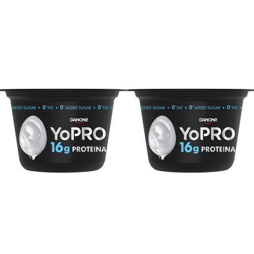 DANONE Yopro yogur natural desnatado proteínas pack 2 x 160 gr