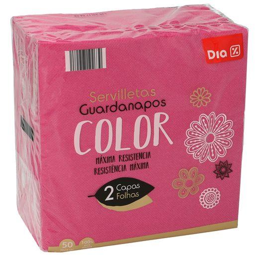 DIA servilletas rosadas 2 capas 33x33 cm paquete 50 uds
