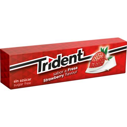 TRIDENT chicle láminas sabor fresa paquete 13,5 gr