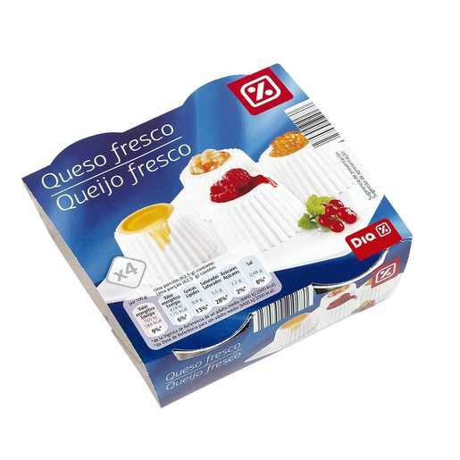 DIA queso fresco Natural envase pack 4 x 62.5 g