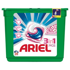 ARIEL Pods detergente máquina 3 en 1 fresh sensations en cápsulas 24 uds