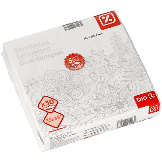DIA servilletas color 3 capas paquete 30 uds