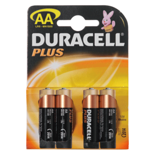 DURACELL pilas plus AA pack 4 unidades
