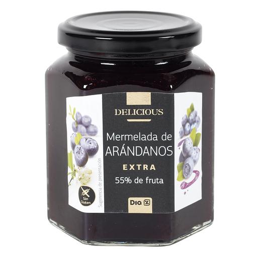 DIA DELICIOUS mermelada extra de arándanos frasco 320 gr