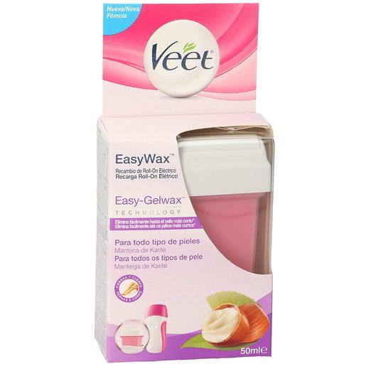 VEET Easy wax cera roll on eléctrico piernas y brazos recambio caja 50 ml