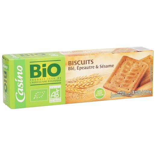 CASINO BIO galletas de espelta de trigo y semillas de sésamo caja 150 gr