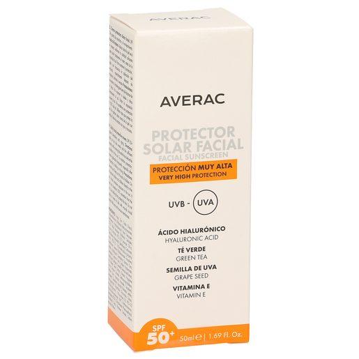 AVERAC protector solar facial spf +50 caja 50 ml