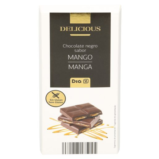DIA DELICIOUS chocolate negro relleno de mango tableta 100 gr