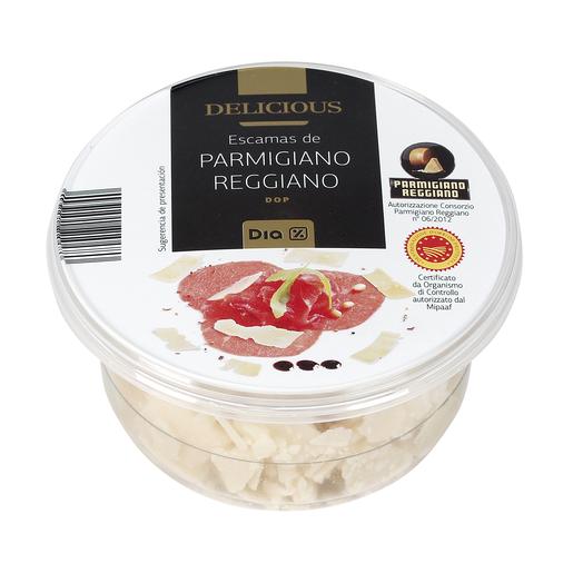 DIA DELICIOUS escamas de queso parmigiano reggiano tarrina 100 gr